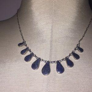 🧚♂️Stunning Lapis Lazuli 950 Silver Necklace